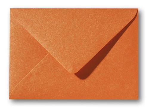 Briefumschlag A5 Orange Metallic Glückwunschseekarten