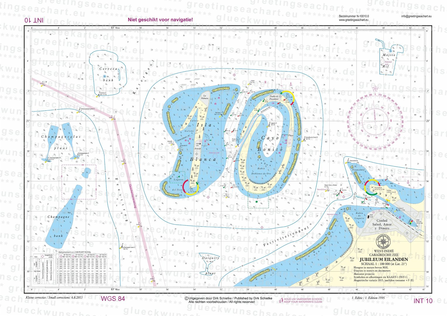 Anniversary sea chart 10 dutch greeting sea charts